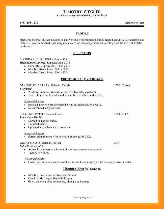 High School Resume Builder Inspirational 12 13 Resume Maker For College Students High School Resume Resume Builder Job Resume Examples
