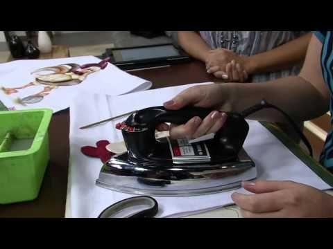 Artesanato - Patch aplique com pintura - YouTube