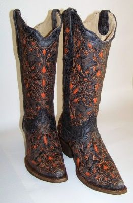 OSU Cowboy boots. If you order them directly from the guy, you can get the OSU ones for $285 that actually say OSU on them! These are just the orange and black for $260. Size 8.5 please ;)!