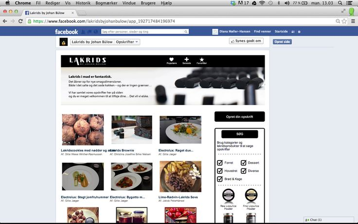 Did you know that you can upload and share your recipes with Lakrids by Johan Bülow to our facebook? https://www.facebook.com/lakridsbyjohanbulow #sharingiscaring :)