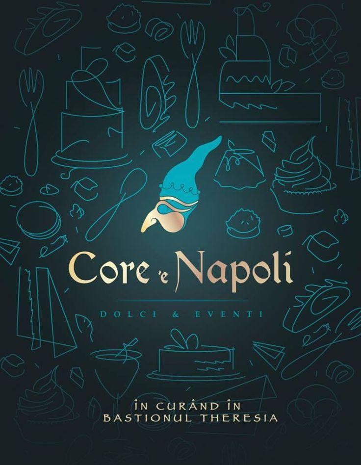 Facebook post for Core e Napoli -dolci & eventi, a new pastry sweetshop in Timisoara Romania. #ADwiser