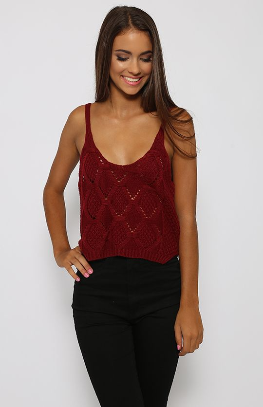 Hot Lips Crop - Maroon | Clothes | Peppermayo