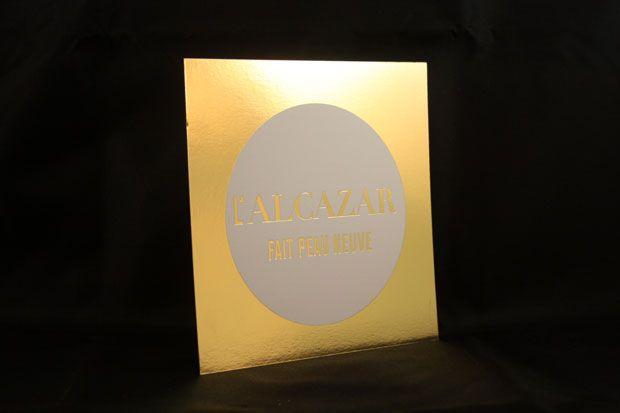 Dorure à chaud or pour l'Alcazar