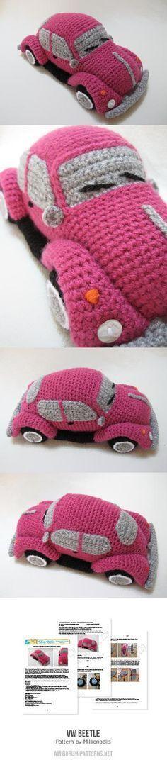 VW (inspired) Beetle Bug Amigurumi Pattern