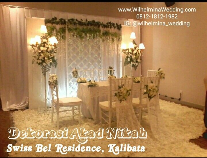 Foto dekorasi & lighting pernikahan oleh Wilhelmina Wedding