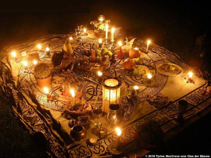 Beautiful altar for Autumn Equinox