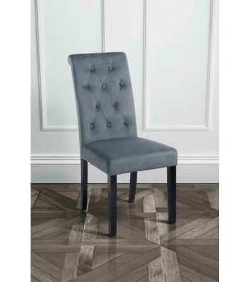 Genoa Smoke Grey Upholstered Dining Chair