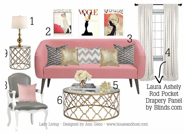 In This Feminine Living Room A Pink Couch Somehow Comes Off Ultra Luxe Instead Of Over