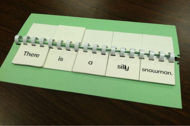 Sentence building flip book FREEBIE!