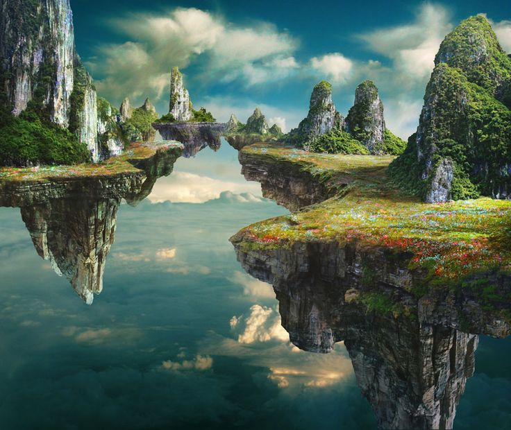 Floating islands inspiration - artwork by Tim Matney