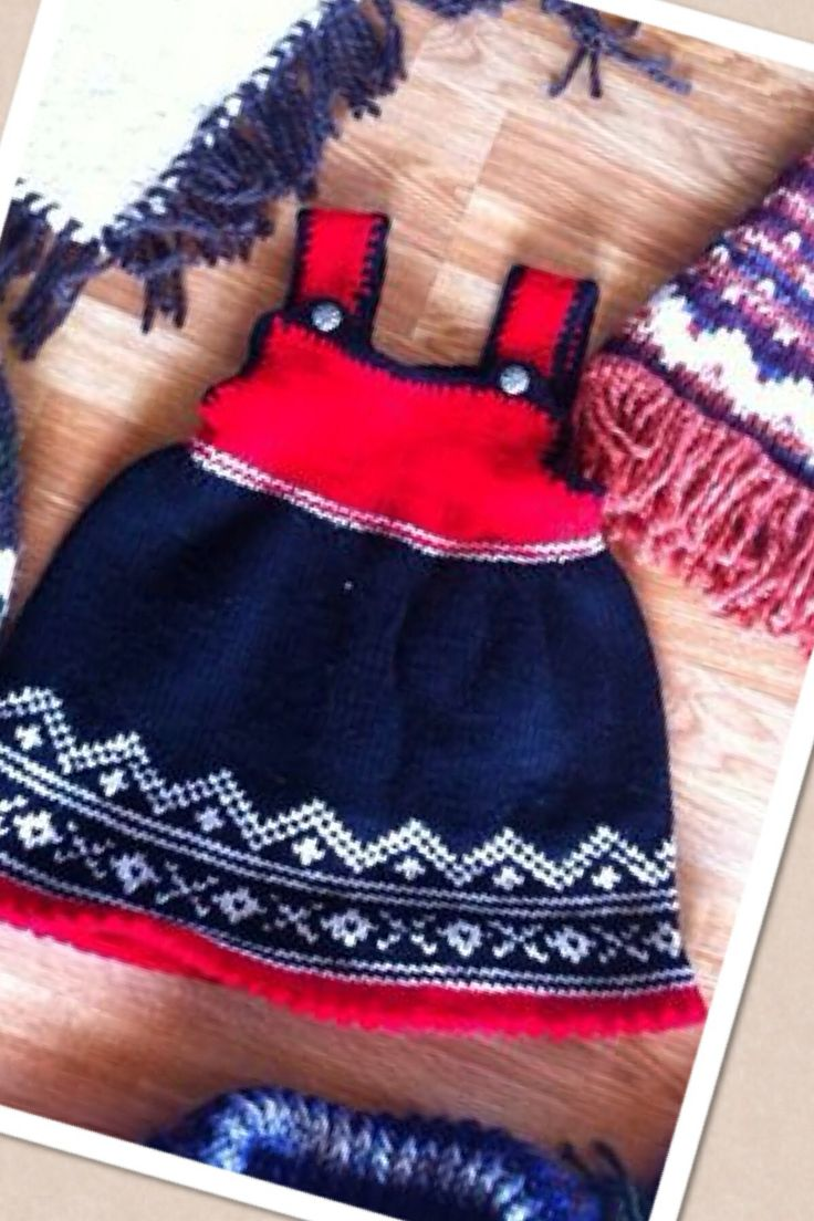 Knitted Norwegian style dress