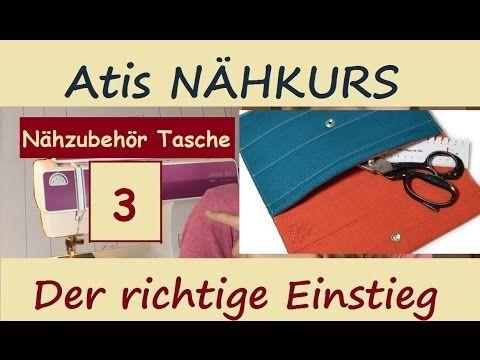 3 NÄHEN FÜR ANFÄNGER: Erstes Nähprojekt! Nähzubehör Tasche / Nähmäppchen - YouTube