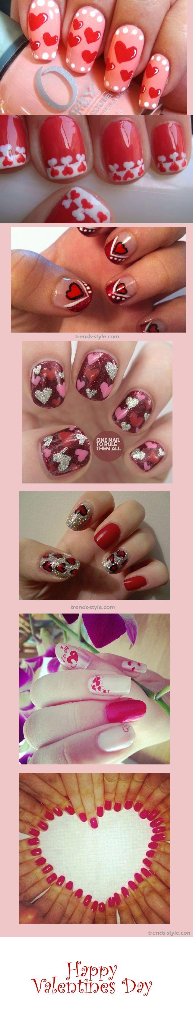 Happy Valentines Day - valentines day nail art