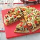 Taco Pizza Recipe | Taste of Home Recipes...made this tonight and once again I'm hailed as the best cook ever lol. It is pretty tasty.