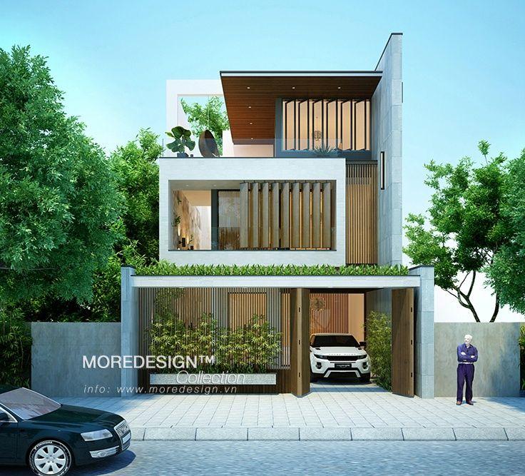 Thiết kế nhà đẹp mặt tiền 7m 3 tầng hiện đại