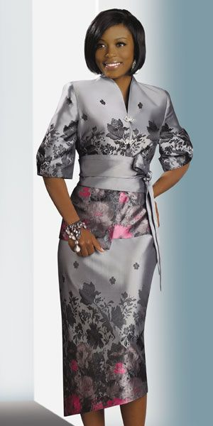 Lisa Rene by Donna Vinci Womens Gray Church Suit 3187    Price:      $198.99