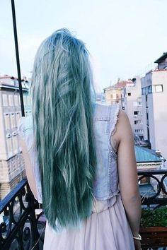 #grey #blue #hair #color #pastel #dye https://www.etsy.com/listing/225281228/teal-grey-hair-dye