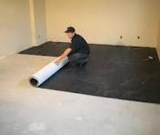 basement floor at bay 1 8 in thick lay under flooring or carpet pad