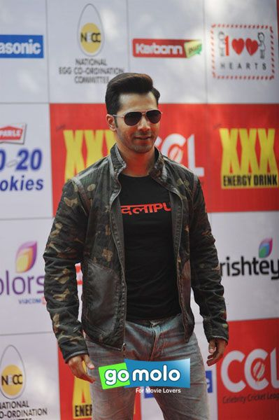 Varun Dhawan at the Launch of 'Celebrity Cricket League' in Mumbai