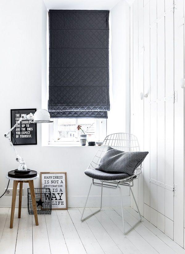 vouwgordijn met gewatteerde stof van #bece® #vouwgordijnen #roman blinds #raamdecoratie
