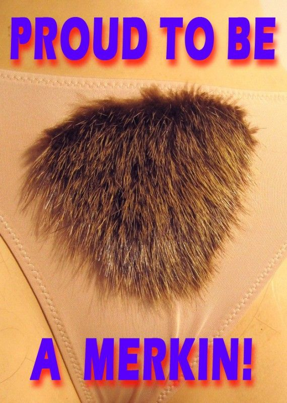 how to put on a merkin