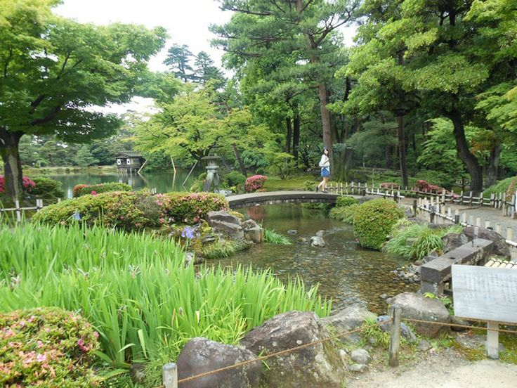 "The Kenroku-en Garden's name literally translates to ""garden with six characteristics,"" and it is one of only three gardens in Japan to boast them all — spaciousness, seclusion, air of antiquity, ingenuity, flowing water, and panoramic views. (More info here: http://us.dk.com/static/cs/us/11/features/beautifulblooms/)"