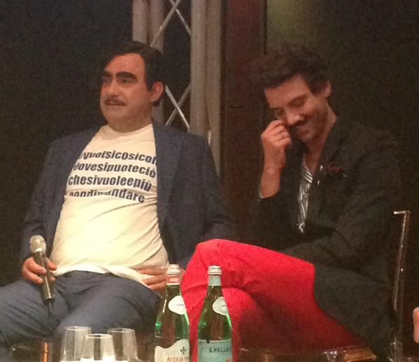 Mika & Elio (Press Conference for XF9 Italy) Milan, May 15, 2015
