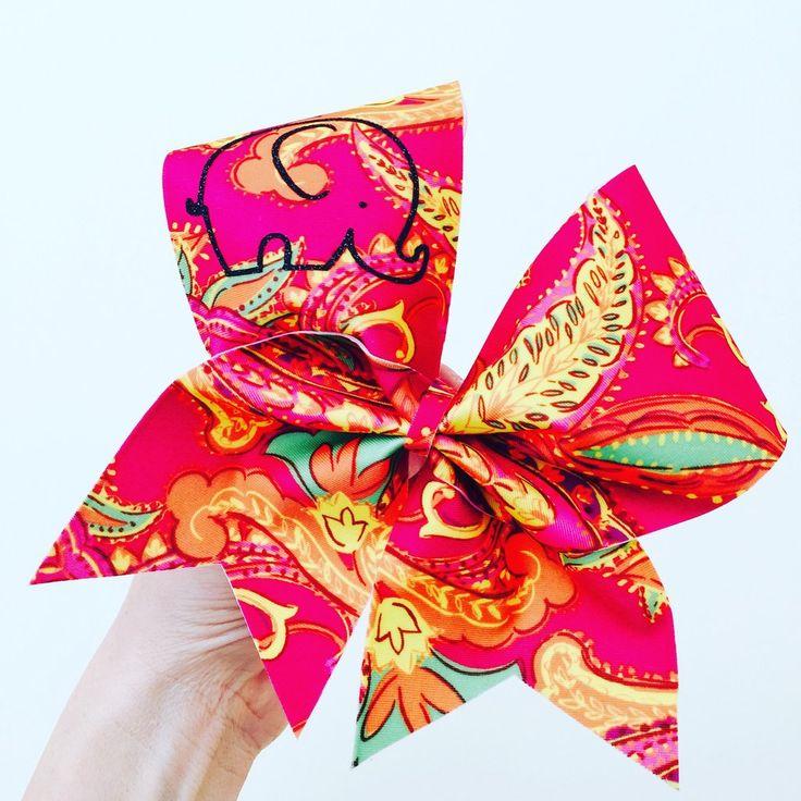 Big bright Baby Elephant Cheer Bow Spandex