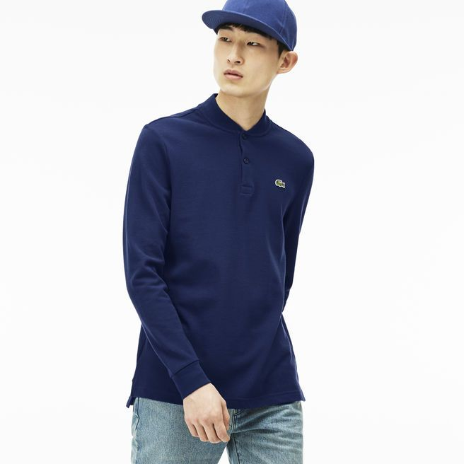 Polo manches longues Regular Fit Lacoste LIVE col Teddy | LACOSTE