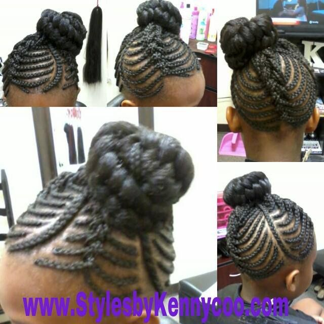 Brilliant 1000 Images About Natural Kids Cornrow Buns On Pinterest Short Hairstyles For Black Women Fulllsitofus