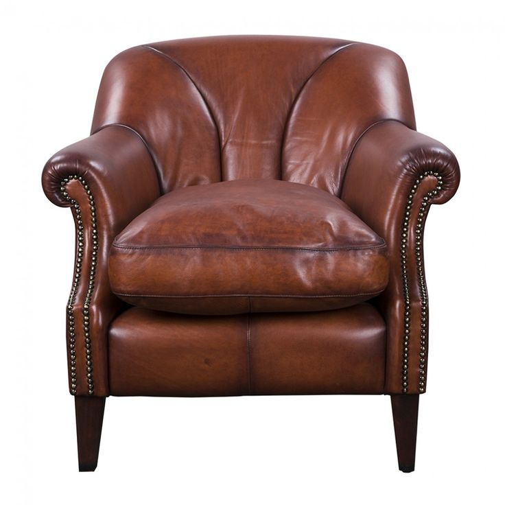 BOOKER TAN LEATHER CHAIR   Lounge Chairs   Seating   Living   HD Buttercup  Online U2013