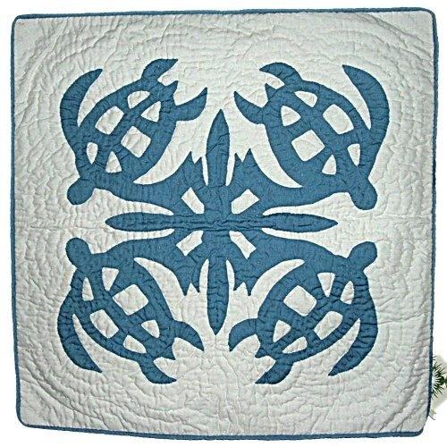 "Hawaiian Honu Petroglyph Turtles Blue Quilted Throw Pillow Cover-18"" by East of Maui Hawaiian Store, http://www.amazon.com/dp/B005YFI7D8/ref=cm_sw_r_pi_dp_gBhKqb0DD6EGW"