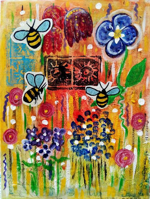 Flight of the Bumblebees by mimuluxART on Etsy