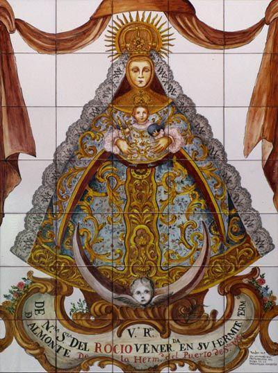 Azulejo de la Virgen del Rocío (Huelva, España) 💥