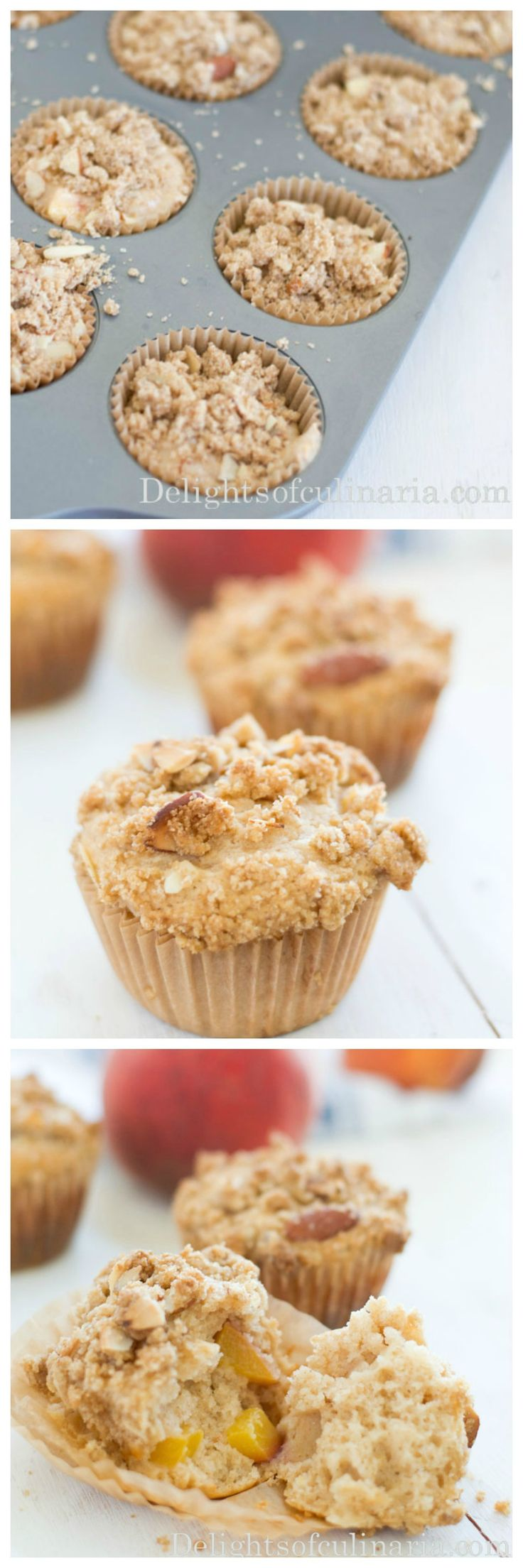 Peach muffins - tasty but i would modify the crumble slightly because it wasn't very crumbly...makes 24