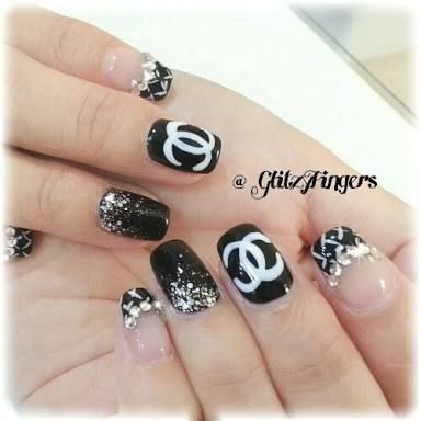 22 best manicure images on pinterest nail designs enamels and hair chanel nails design google search nail designs girly manicures feminine nail design polish nail polish prinsesfo Choice Image