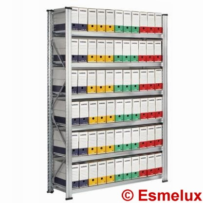 Estanterías metálicas galvanizadas especialmente diseñada para el archivo de documentos en oficinas, despachos, comercios y empresa.  http://www.esmelux.com/estanterías-metálicas-archivadores-definitivos