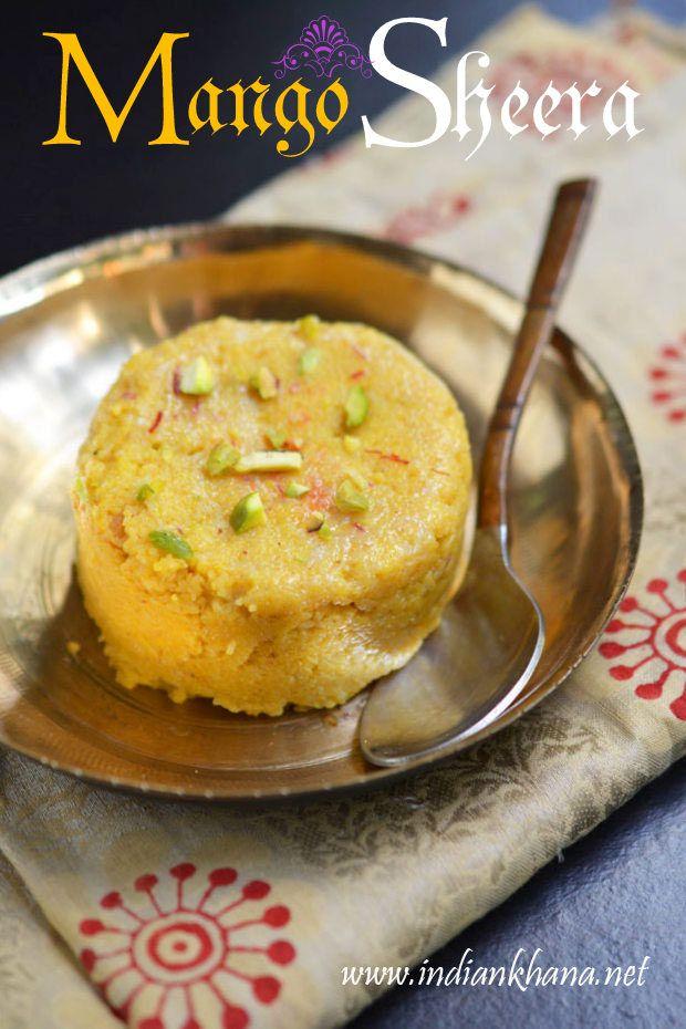 Mango Halwa or Mango Sheera is delicious sweet made with puree mango and semolina (sooji/rava).   Treat for all mango and dessert lovers.