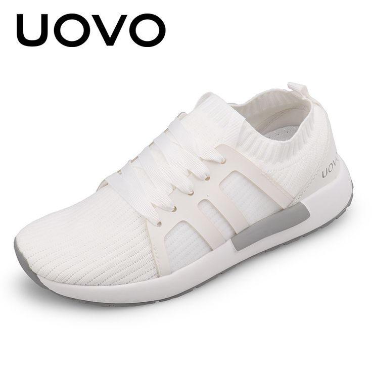 UOVO Women's Shoes Breathable Mesh Sneakers Lace-Up Light Runing Shoes Adult Casual