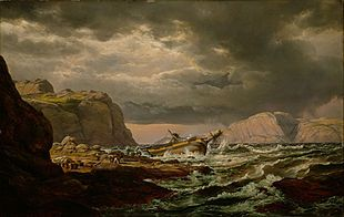 Johan Christian Dahl - Shipwreck on the Coast of Norway, 1832
