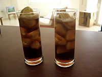 Cuba Libre also known as Bacardi and Coke!