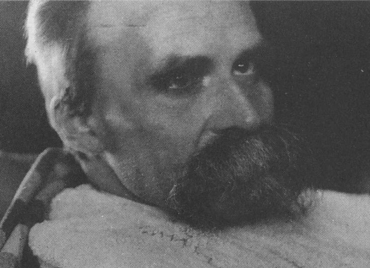 """Friedrich Nietzsche, photographed in mid-1899, after a mental breakdown and two strokes. This image is a part of the series """"The ill Nietzsche"""" photographed by Hans Olde."""