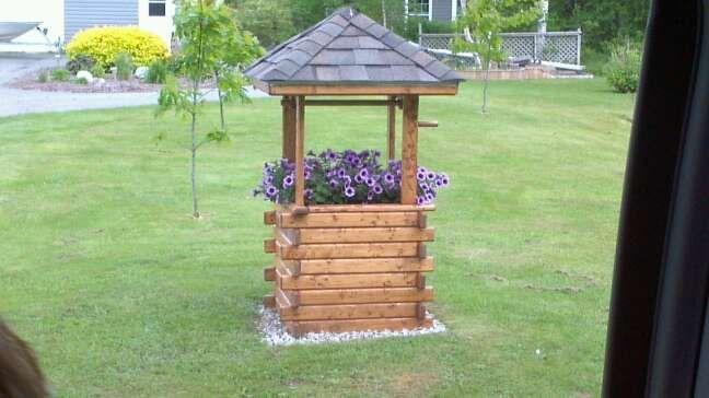Diy Wishing Well Planter For The Garden Pinterest