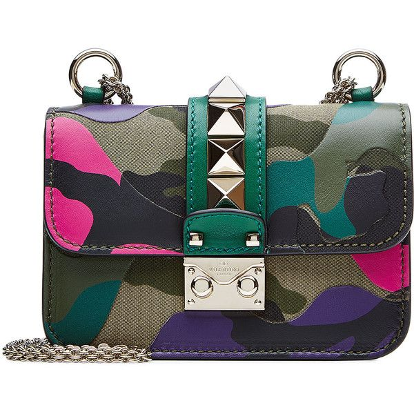 Valentino Mini Rockstud Leather Shoulder Bag ($1,420) ❤ liked on Polyvore featuring bags, handbags, shoulder bags, purses, valentino, multicolor, leather hand bags, leather shoulder bag, handbags shoulder bags and black leather purse