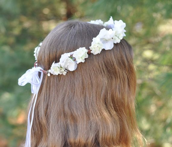 Silk Flower Wreath First Communion Wreath by Hollysflowershoppe