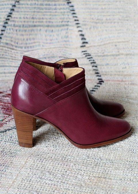 Sézane / Morgane Sézalory - Clyde boots -Collection spring 2014 Taroudant  www.sezane.com #frenchbrand #boots #heels