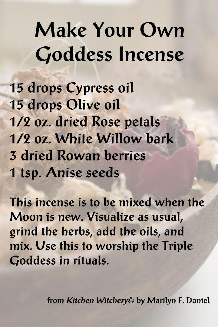 Make Your Own Goddess Incense