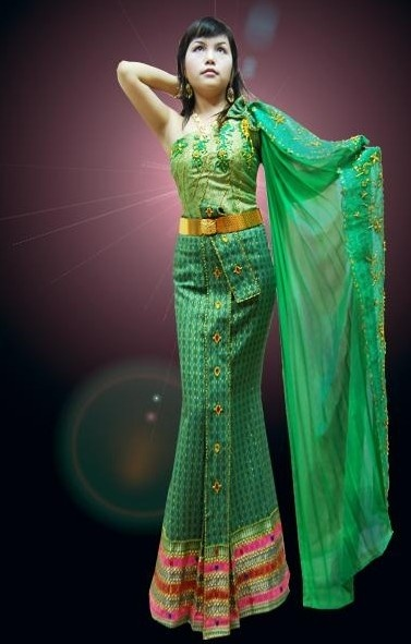 35 best images about thai dance on pinterest traditional for Laos wedding dress for sale