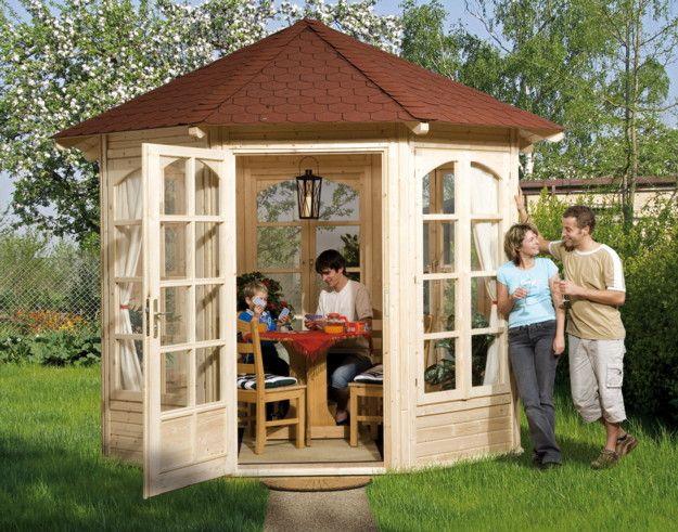 Good Pavillon Eck Gartenpavillon Holz Bausatz T ren und Fenster mit Sprossen