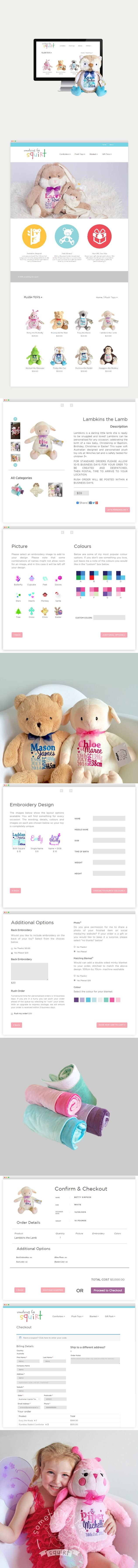 The custom #WordPress e-commerce #website & #UI design we delivered for an Australian custom #baby products company called 'Something For Squirt'.